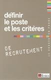 Demos Editions - Définir le poste et les critères de recrutement.