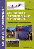 Denis Abonnen et Jean-Baptiste Chiama - L'intervention de l'enseignant au cours de la leçon d'EPS - Actes de la 3e Biennale de l'AE-EPS, 19 et 20 octobre 2019.