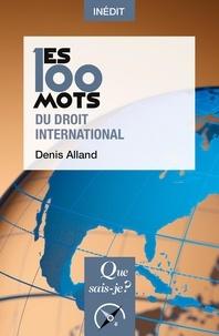 Denis Alland - Les 100 mots du droit international.