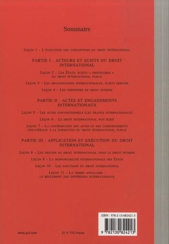 Manuel de droit international public 7e édition