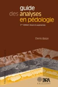 Guide des analyses en pédologie. 2ème édition revue et augmentée - Denis Baize   Showmesound.org
