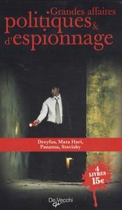 Denis Bon et Lionel Dumarcet - Grandes affaires politiques et d'espionnage - Coffret en 4 volumes.