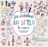 Denis Cauquetoux - Je dessine au stylo 4 couleurs - Des centaines de dessins étape par étape !.