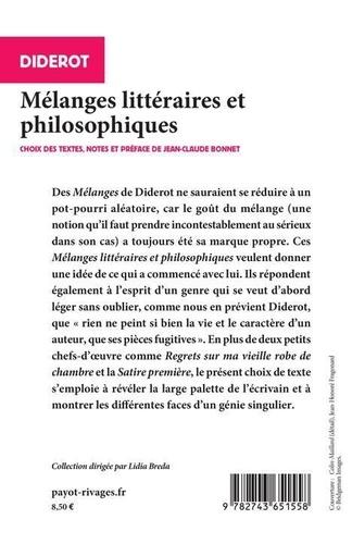 Mélanges littéraires et philosophiques