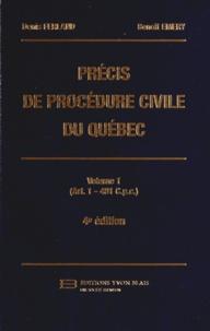 Denis Ferland et Benoît Emery - Précis de procédure civile du Québec - Volume 1 (Art. 1 - 481 Cpc).