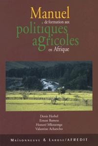 Galabria.be Manuel de formation aux politiques agricoles en Afrique Image