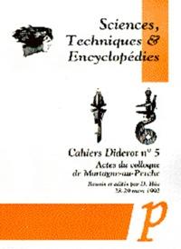 Era-circus.be Sciences, techniques et encyclopédies. Actes du colloque de Mortagne-au-Perche, mars 1992 Image