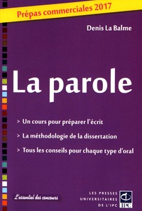 Denis La Balme - La parole - Prépas commerciales.