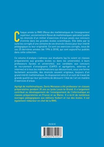 Oral de mathématiques des grandes écoles, 123 exercices corrigés et commentés. Analyse volume 4, Topologie et espaces vectoriels normés
