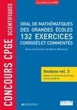 Denis Monasse et Bernard Randé - Oral de mathématiques des grandes écoles, 132 exercices corrigés et commentés - Analyse volume 3, Suites et séries de fonctions, séries entières.
