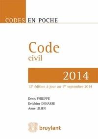 Denis Philippe et Delphine Dehasse - Code civil 2014.