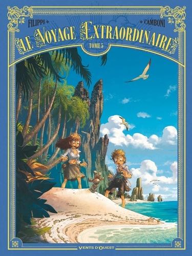 Denis-Pierre Filippi et Silvio Camboni - Le voyage extraordinaire Tome 5 : Les îles mystérieuses - 2/3.