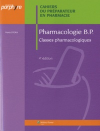 Denis Stora - Pharmacologie BP.