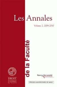 Denis Tallon - Les Annales de la faculté de droit, sciences économiques et gestion de Nancy - Volume 2, 2009-2010.