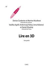 Denise Cordonier - Lire en 3D - Fasc. 1.