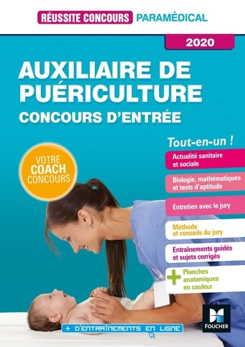 Auxiliaire de puériculture. Concours d'entrée  Edition 2020