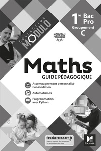 Denise Laurent et Fabien Auchère - Maths 1re Bac Pro Groupement C Modulo - Guide pédagogique.