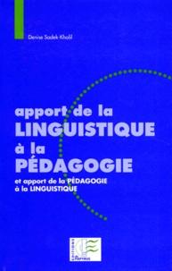 Deedr.fr APPORT DE LA LINGUISTIQUE A LA PEDAGOGIE. Et apport de la pédagogie à la linguistique Image