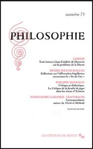 Denise Souche-Dagues et Philippe Huneman - Philosophie N° 75 Décembre 2002.