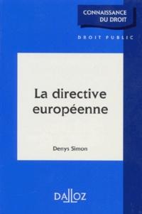 Denys Simon - La directive européenne.