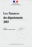 Départ Etudes Statistiques - Les finances des départements 2003. 1 Cédérom