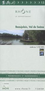 Département du Rhône - Beaujolais, Val de Saône - 1/25 000.
