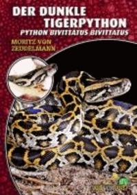 Der dunkle Tigerpython - Python bivittatus bivittatus.