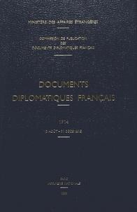 Des affaires étrangères Ministère - Documents diplomatiques français - 1914 (3 août – 31 décembre).
