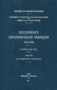 Des affaires étrangères Ministère - Documents diplomatiques français - 1934 – Tome III (1er novembre 1934 – 15 janvier 1935).
