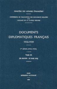 Des affaires étrangères Ministère - Documents diplomatiques français - 1935 – Tome I (16 janvier – 23 mars).