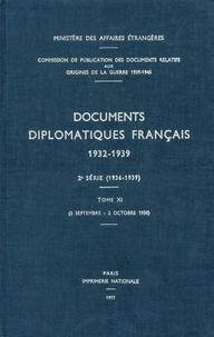 Des affaires étrangères Ministère - Documents diplomatiques français - 1938 – Tome IV (3 septembre – 2 octobre).
