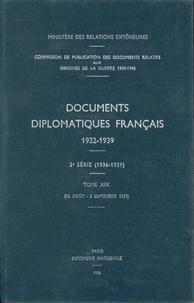 Des affaires étrangères Ministère - Documents diplomatiques français - 1939 – Tome VI (26 août – 3 septembre).