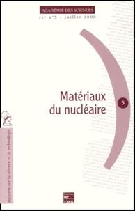 Des sciences Académie - Matériaux du nucléaire.