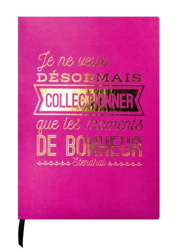 DESASTRE (PAPETERIE) - Carnet Leitmotiv 96 pages pointillées Fuchsia Stendhal Collectionner les moments de bonheur