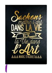 DESASTRE (PAPETERIE) - Carnet Leitmotiv 96 pages pointillées Noir Marie d'Agoult Sachons mettre l'art dans la vie…