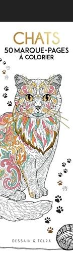 Chats 50 Marque-pages à colorier