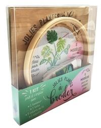 Téléchargeur de livres pour pc Coffret Jolies plantes à broder  - 1 kit prêt à l'emploi avec : 1 tambour, 1 toile, 5 coloris de fil, 1 aiguille