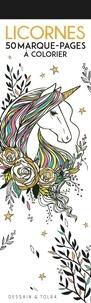 Dessain et Tolra - Licornes - 50 marque-pages à colorier.