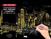 Dessain et Tolra - Maxi-tableaux à gratter Paris - Hong-Kong - Avec 1 maxi-carte à gratter Paris, 1 maxi-carte à gratter Hong Kong, 1 stylet de bois.