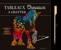 Dessain et Tolra - Tableaux chevaux à gratter - 6 illustrations élégantes à gratter et à encadrer. Avec un stylet inclus.