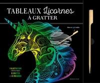 Dessain et Tolra - Tableaux licornes à gratter - 6 illustrations fantastiques à gratter et à encadrer. Avec un stylet inclus.
