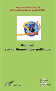 Deedr.fr Rapport sur la thématique politique - L'évaluation de la politique congolaise Image