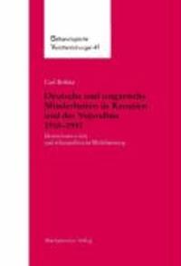 Deutsche und ungarische Minderheiten in Kroatien und der Vojvodina 1918-1941 - Identitätsentwürfe und ethnopolitische Mobilisierung.