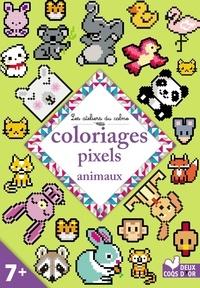 Deux Coqs d'or - Coloriages pixels animaux.