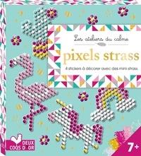 Pixels strass - 4 stickers à décorer avec des mini-strass.pdf