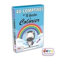 Deva Jeunesse - 40 comptines et 10 dessins à colorier.