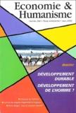 Denis Clerc et Gilles Desrumaux - Economie & Humanisme N° 360, Mars-Avril 2 : Développement durable, développement de l'homme ?.