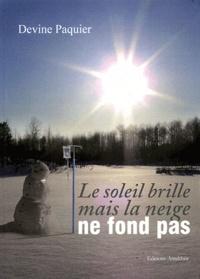 Devine Paquier - Le soleil brille mais la neige ne fond pas.