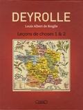Deyrolle et Louis Albert de Broglie - Coffret Deyrolle - Leçons de choses Tome 1 et 2.