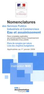 DGCP - Eau et assainissement - Nomenclatures des services publics industriels et commerciaux - Instruction M49.